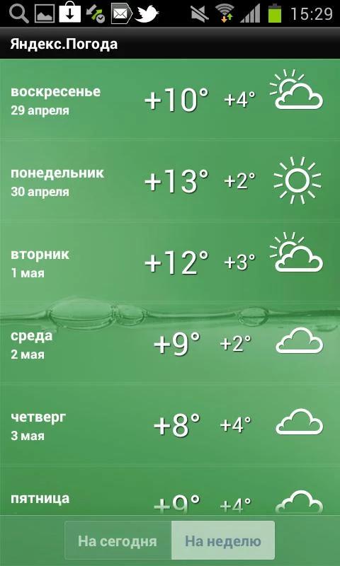 Погода на месяц в москве север
