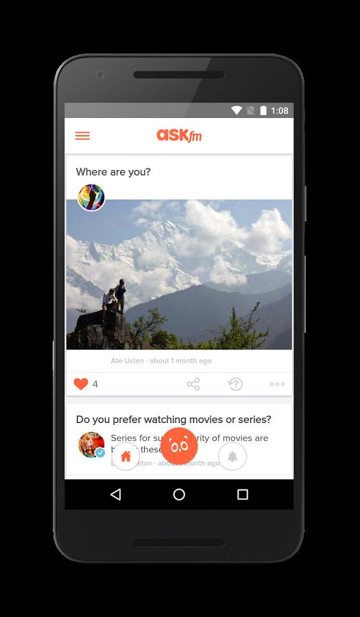 Скачать Ask fm на Андроид бесплатно без регистрации