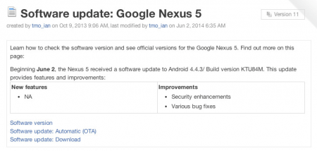 Google по-тихому представит ОС Android 4.4.3