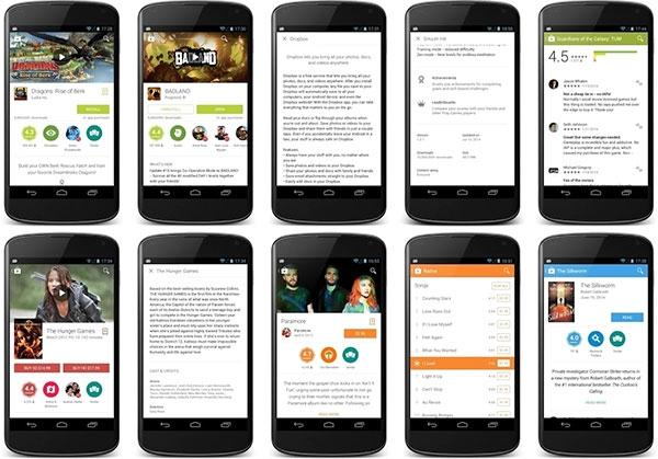 Google пересмотрела дизайн Google Play