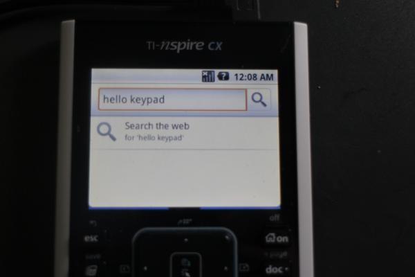 Android запустили на графическом калькуляторе